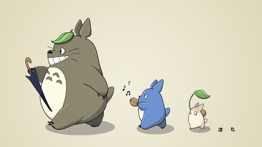 Totoro march! Inspired by the song in the beginning