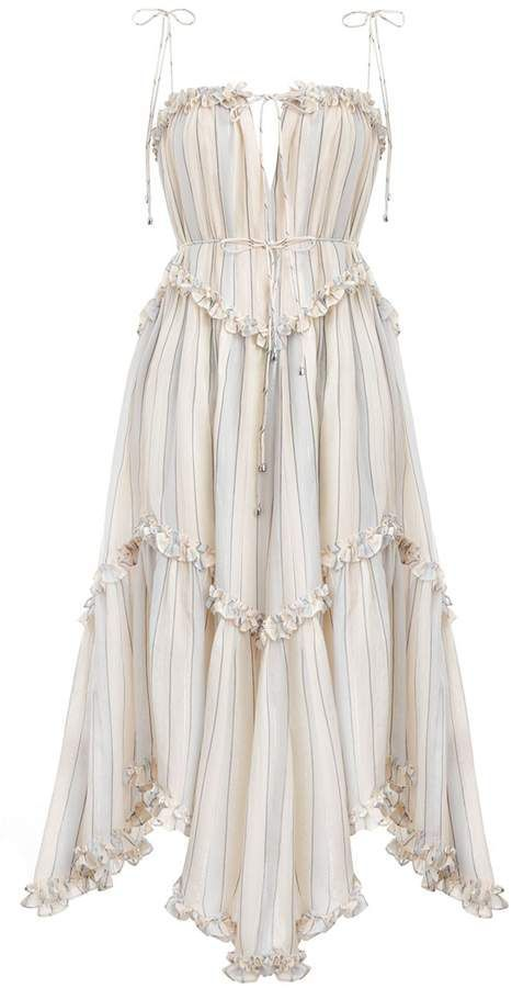 Designer Dresses Mid Length | ZIMMERMANN
