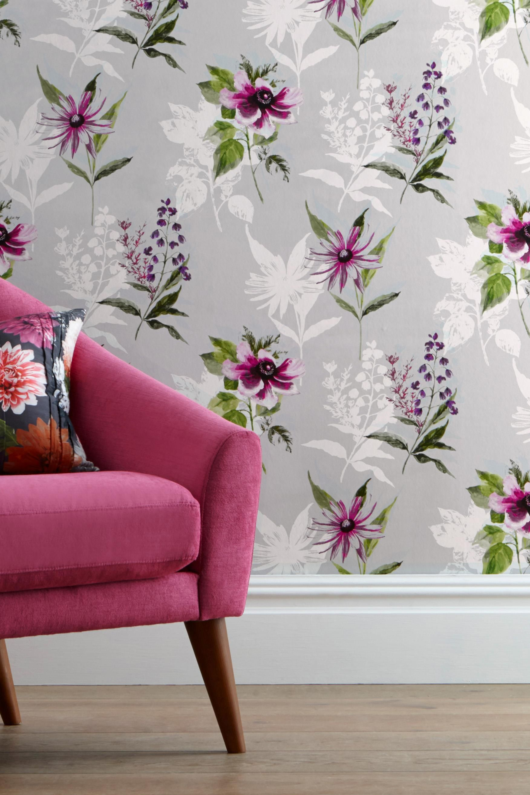 Buy Vibrant Floral Paste The Wall Wallpaper from the Next