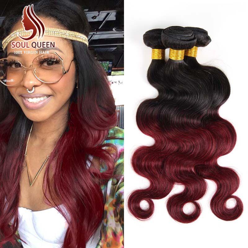 Aliexpress Buy Ombre Brazilian Hair 3 Pcslot Two Tone 1b99j