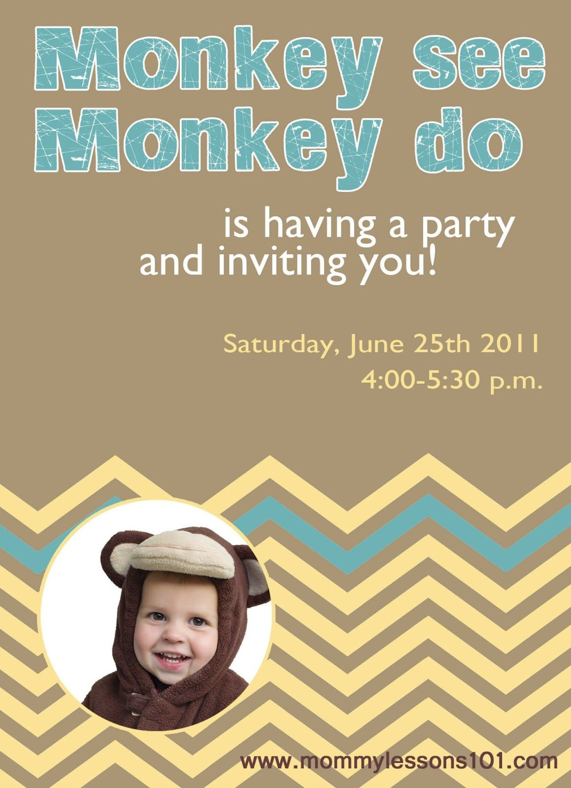 Mommy Lessons 101: 2-year-old Monkey Birthday Party