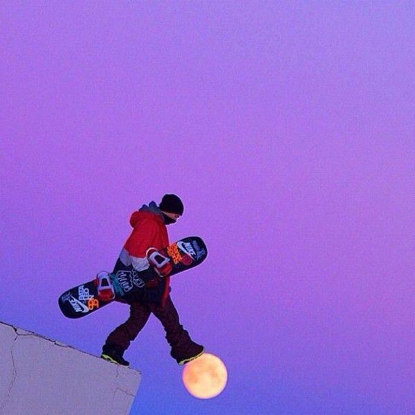 Moon Walk #snowboard