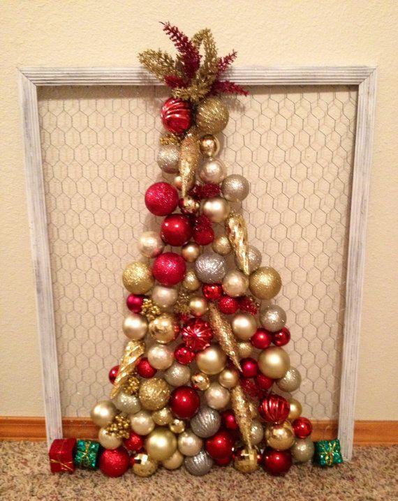 Chicken Wire Frame Christmas Tree | Christmas Ideas | Pinterest ...