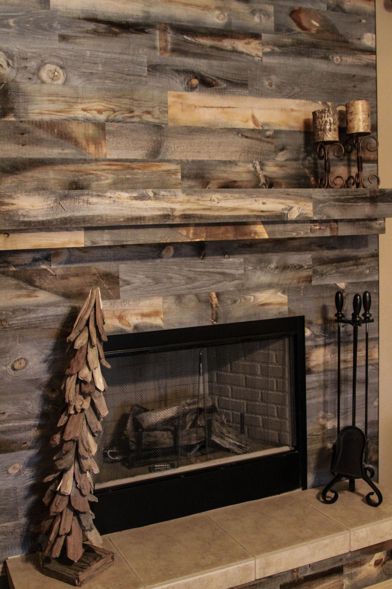 Looking for a small weekend project to complete over the weekend? Take a peek at these fireplace designs using Stikwood's wood wall planking.
