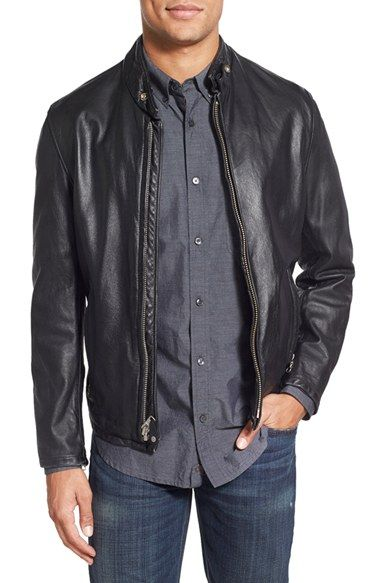 b05992939a7a Schott NYC  654  Café Racer Leather Jacket available at  Nordstrom ...