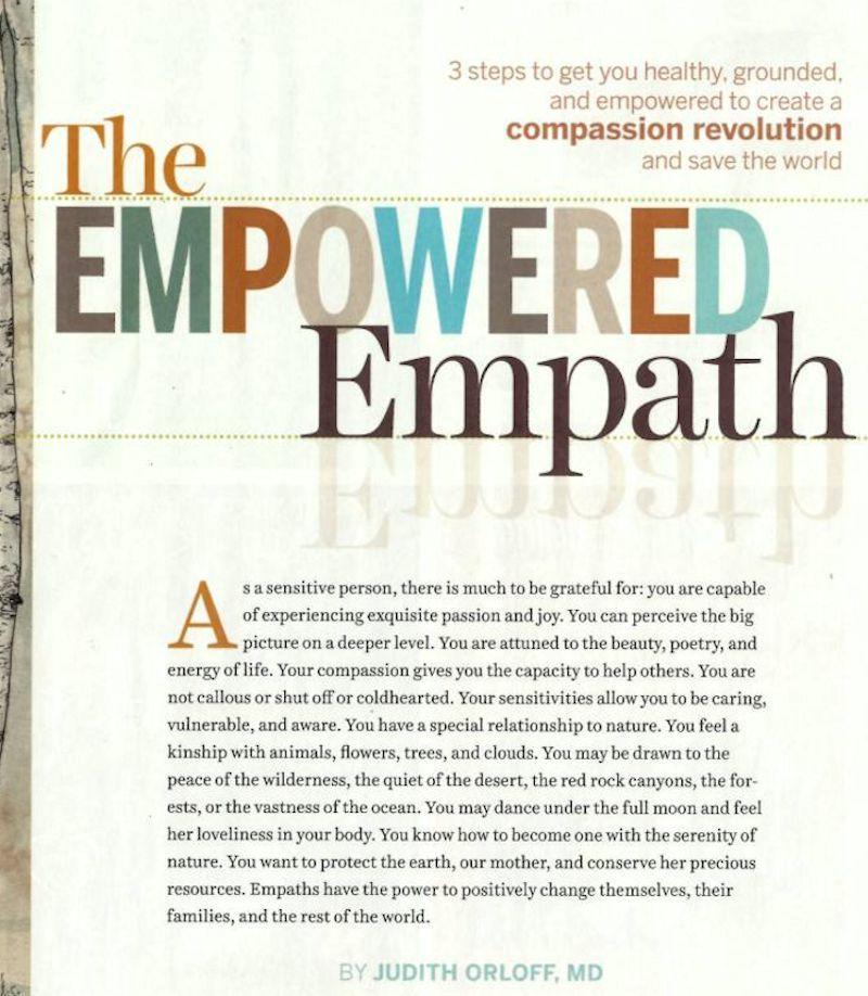 Spirituality and Health: The Empowered Empath