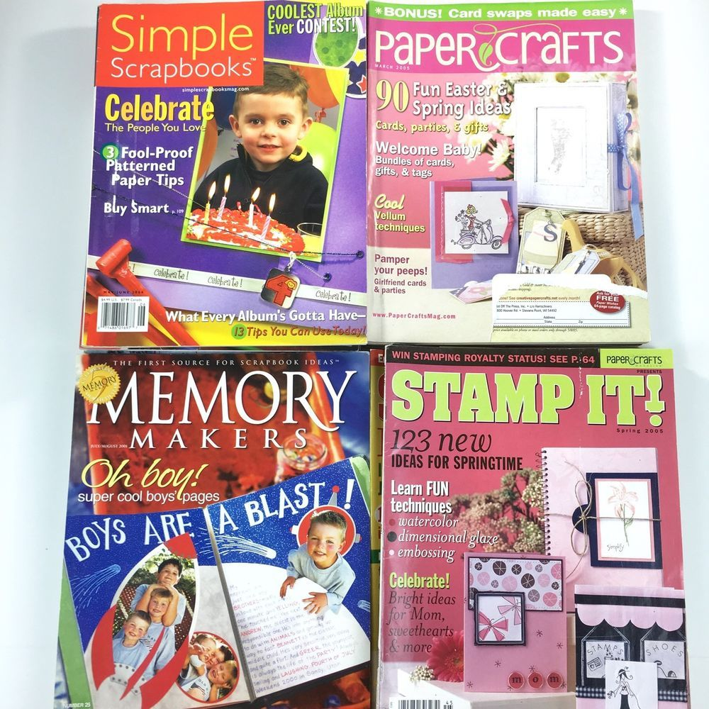 How to scrapbook magazines - Details About Papercrafts Stamp It Memory Makers Simple Scrapbook Magazines Lot Of 21