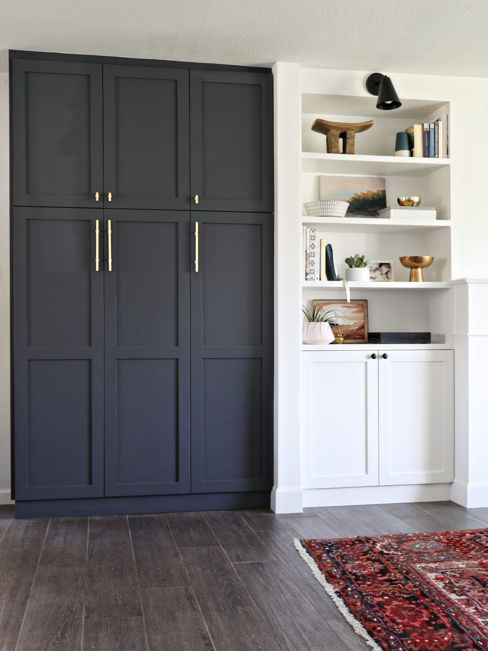 Attirant Paint Color   Cyberspace By Sherwin Williams. IKEA PAX Cabinets With Shaker  Doors By Semihomemade