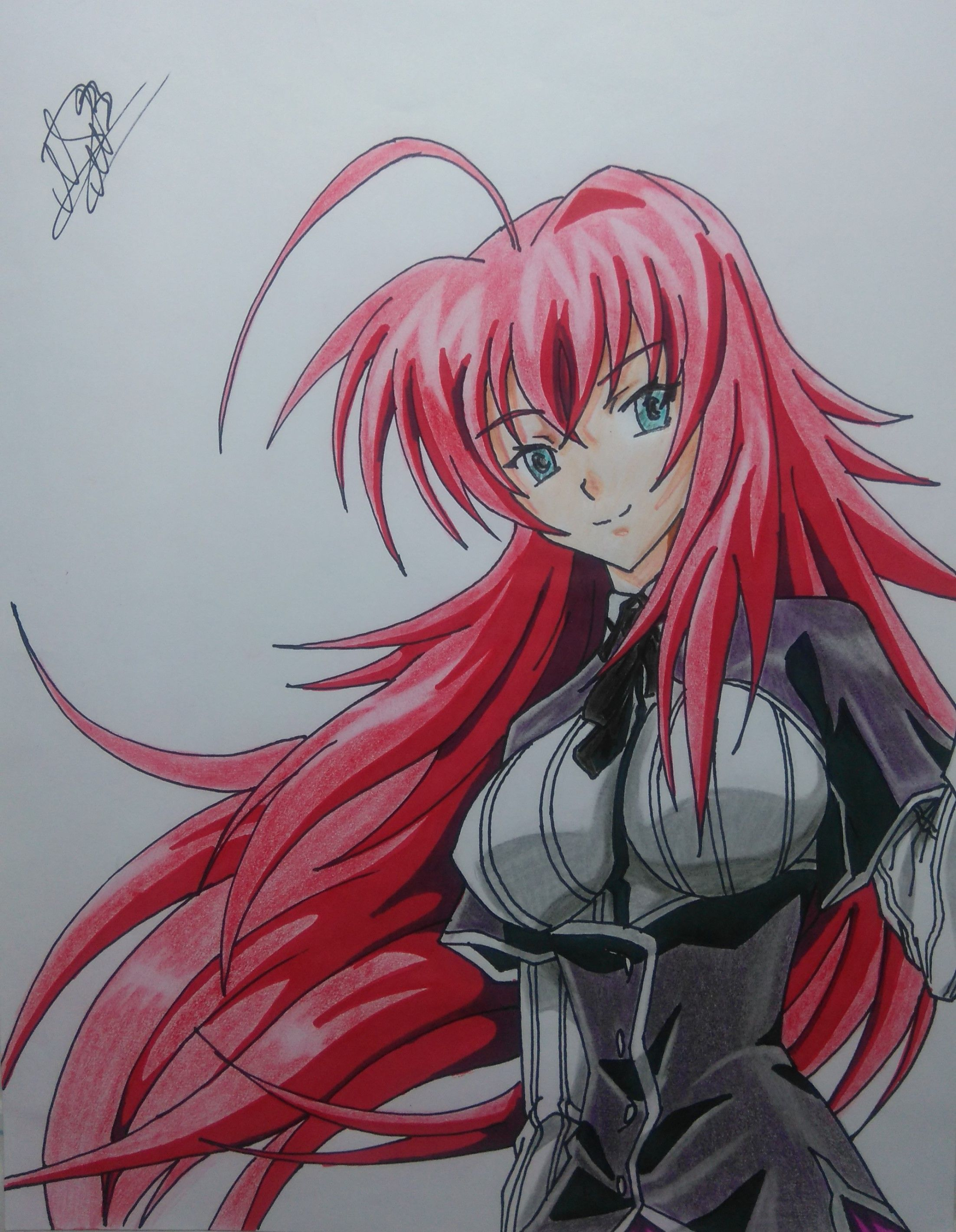 Rias Gremory from Highschool DxD mira el proceso (speed