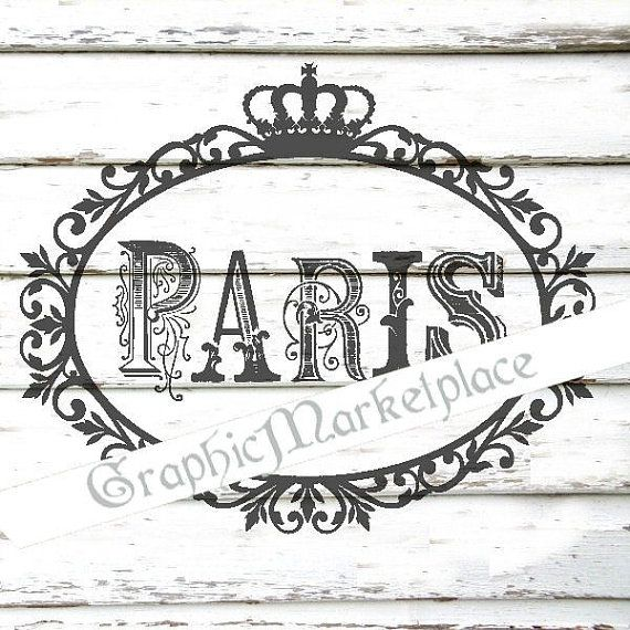 Paris Frame French Oval Instant Download Transfer Burlap digital collage sheet graphic printable No. 1513