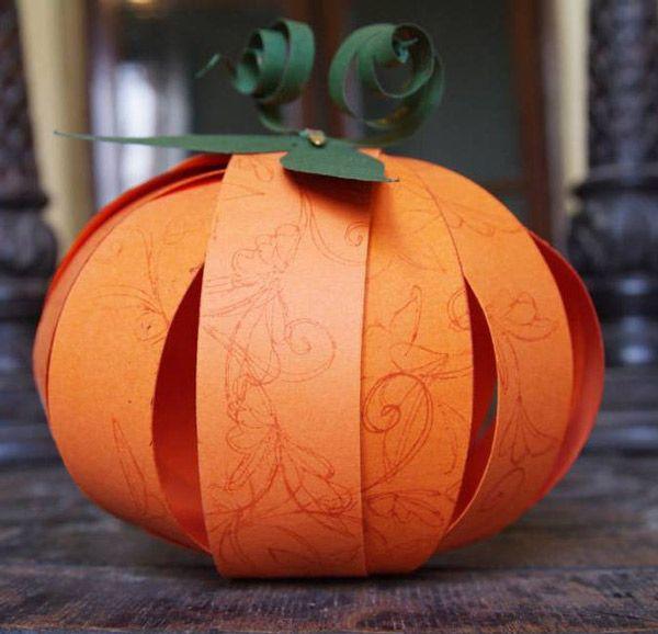 Ideas para hacer calabazas de papel Calabazas de halloween