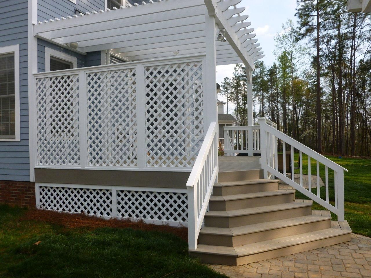 decks and lattice have been together forever. check out these