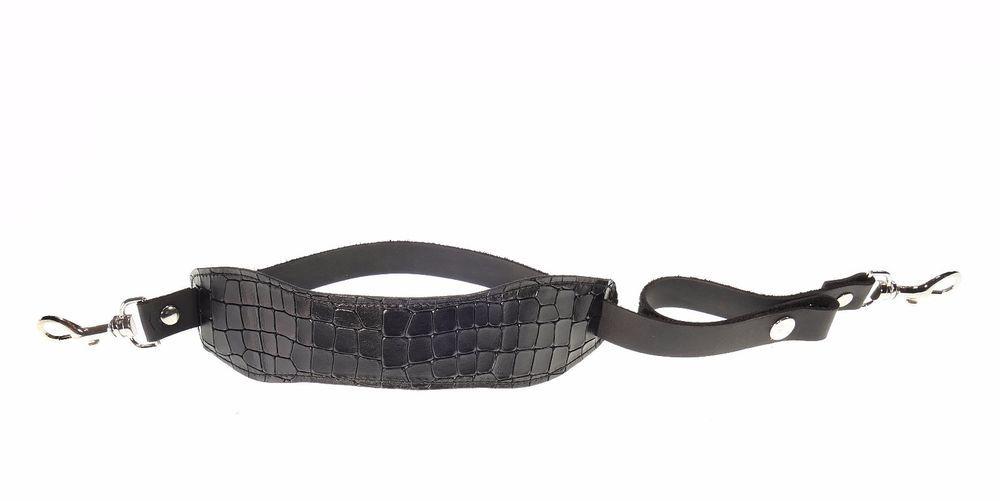 Leather Camera Wrist Strap Camera Hand Strap Photography Equipment Black Leather #TIOMKIN