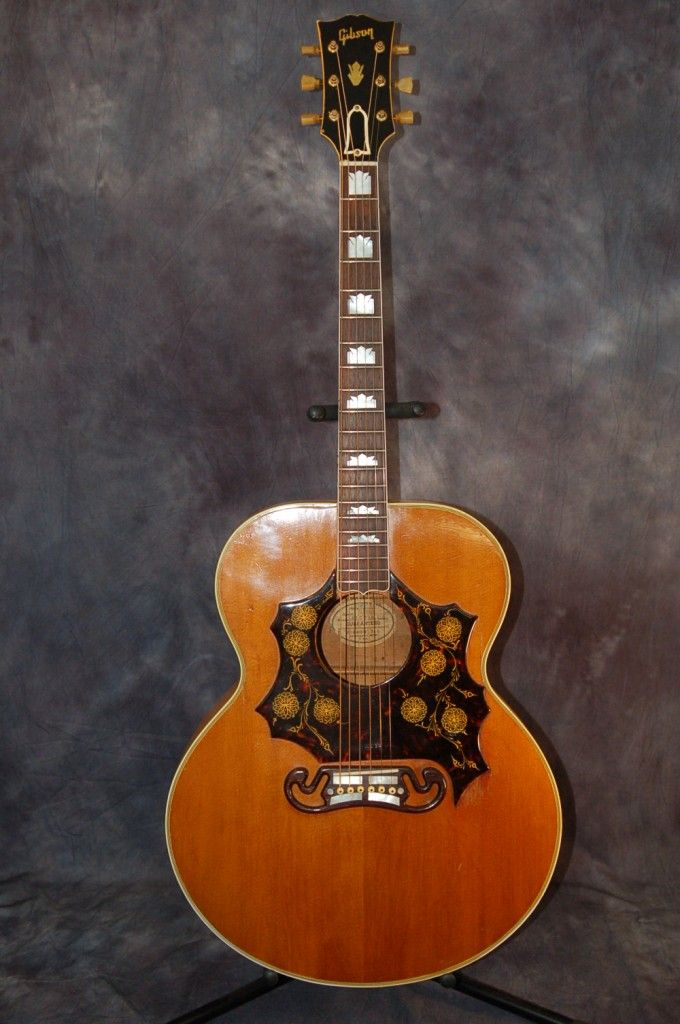 gibson guitars for sale 1953 gibson sj 200 custom with california girl hardshell case. Black Bedroom Furniture Sets. Home Design Ideas