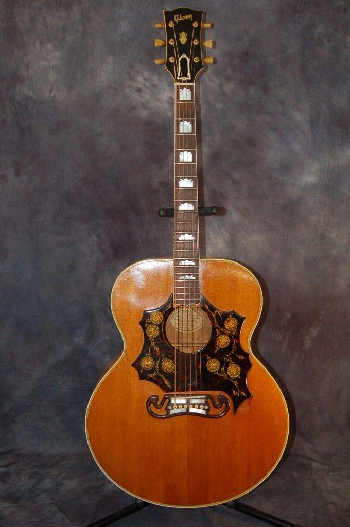 gibson guitars for sale 1953 gibson sj 200 custom with california girl hardshell case. Black Bedroom Furniture Sets. Home Design Ideas