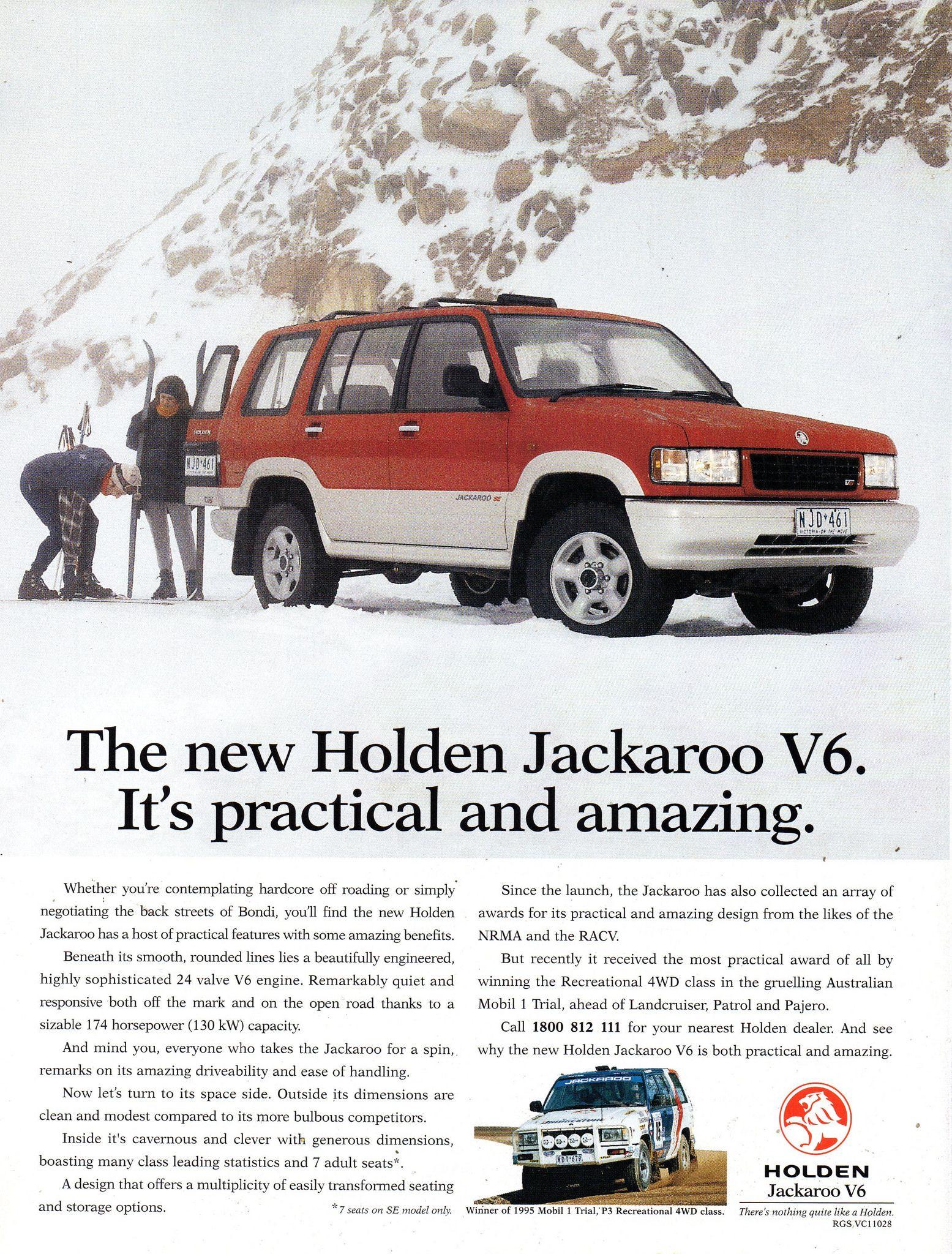 1995 Ubs 2 Holden Jackaroo V6 Suv Wagon Aussie Original Magazine Advertisement Holden Australia Car Ads Car