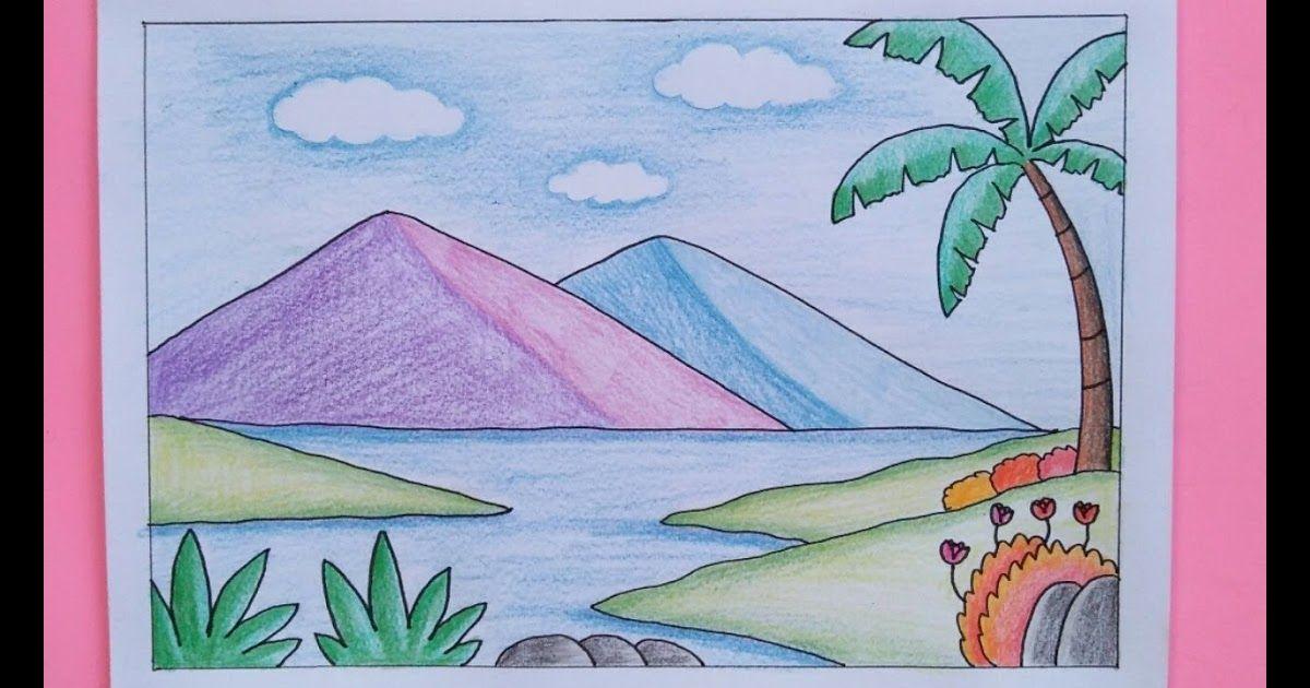 Gambar Pantai Anak Sd / Pantai Gambar Pemandangan Alam ...