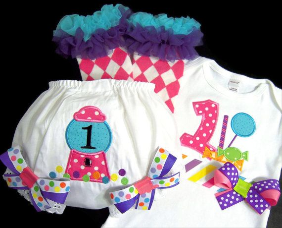 b648c084 First Birthday Girl Outfit Candy Shoppe Girl by whimsytots on Etsy, $73.50