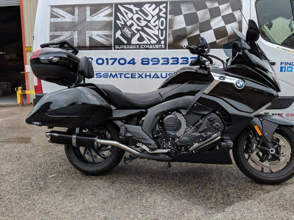 Details About Bmw K1600b Bagger 16 20 Stainless Black Tri Oval Triple Outlet Exhaust Mufflers In 2020 Bmw Bagger Muffler