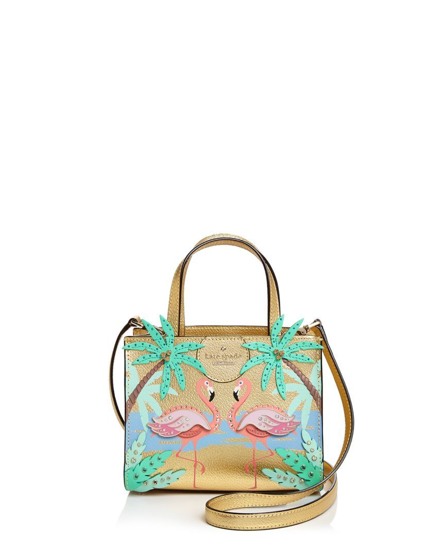By The Pool Flamingo Kate Spade Kate Spade New York By The Pool Flamingo Small Sam Leather Crossbody