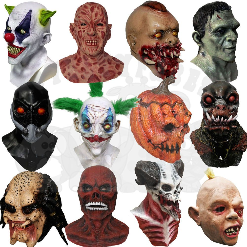 Details about Latex Halloween Skull Zombies Mutant Alien Psychic ...