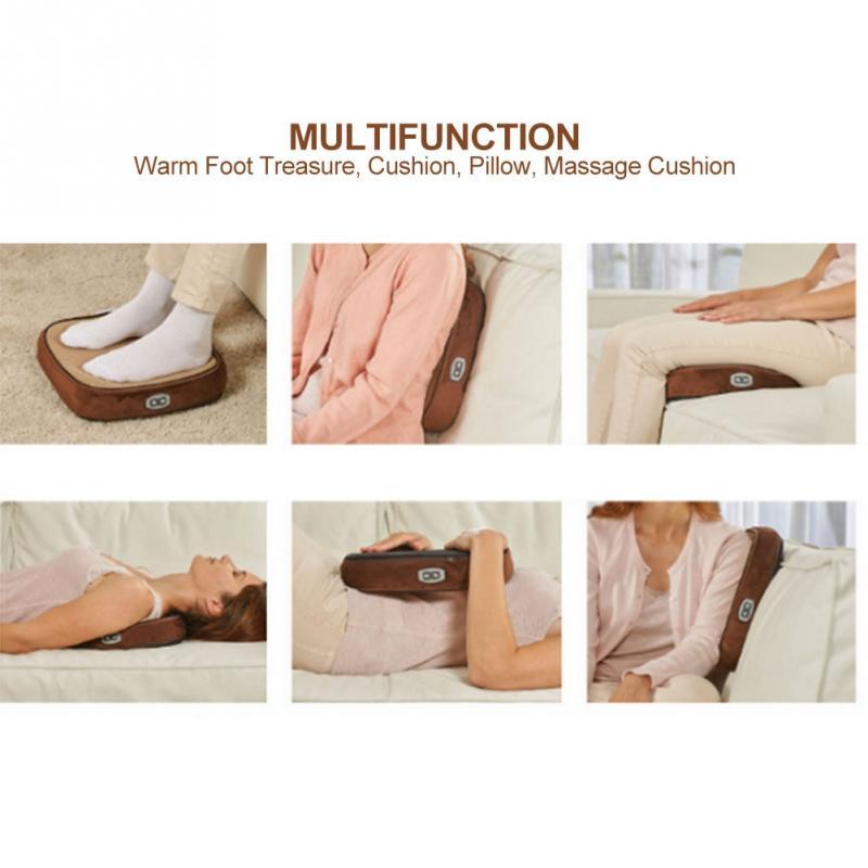 2 In 1 Electric Feet Warmer Massager Foot Warmers Massager Warm Feet