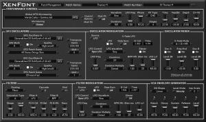 XenFont microtonal soundfont & subtractive synthesis VST