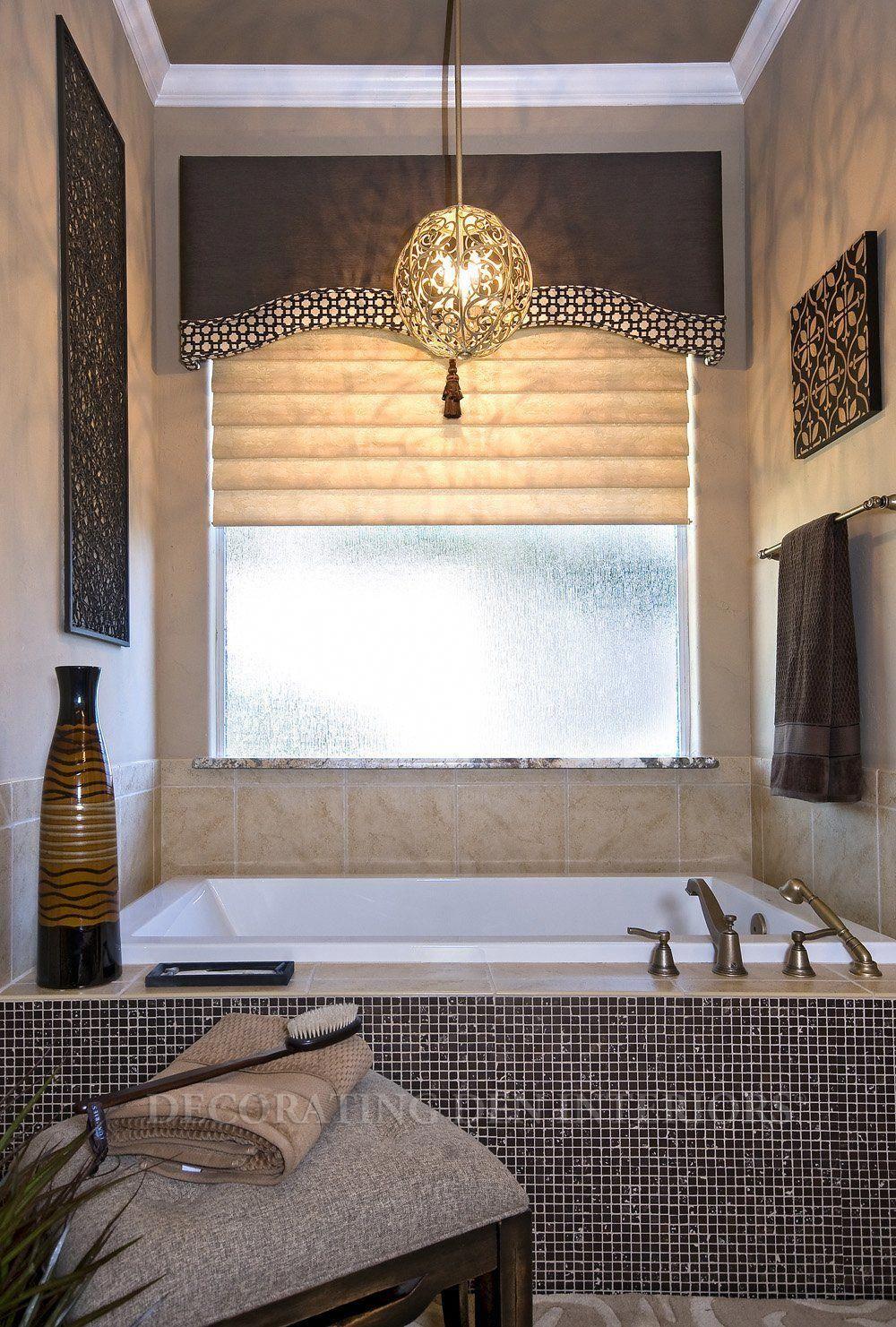 elegant bathroom curtain | Bathroom window treatments ...