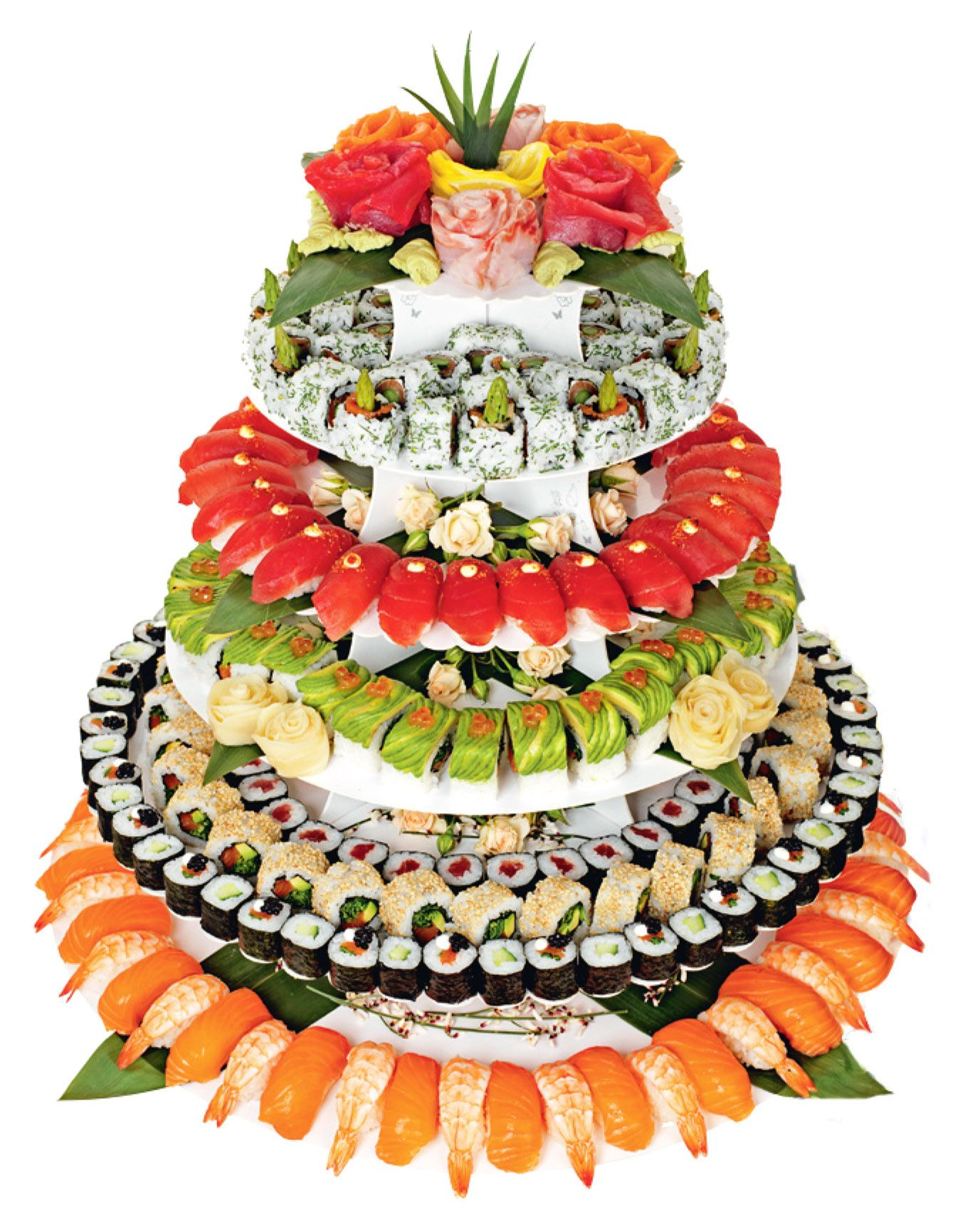 Sushi Wedding Cake   Who knew it was a thing | Romance and Wedding