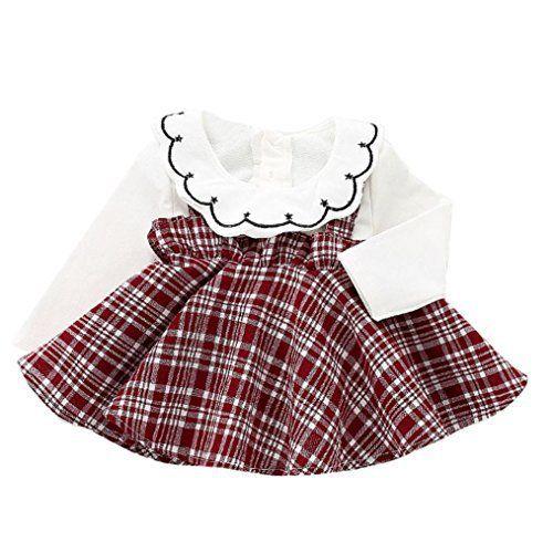 1f66ae2b3ab66 Bébé Fille Mignonne à Carreaux + Robes de Fête de Jupe ❤ Familizo Mode Bébé