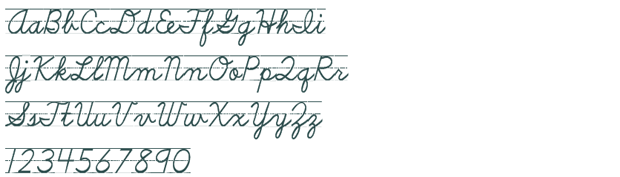 D'Nealian Cursive with Lines free font download