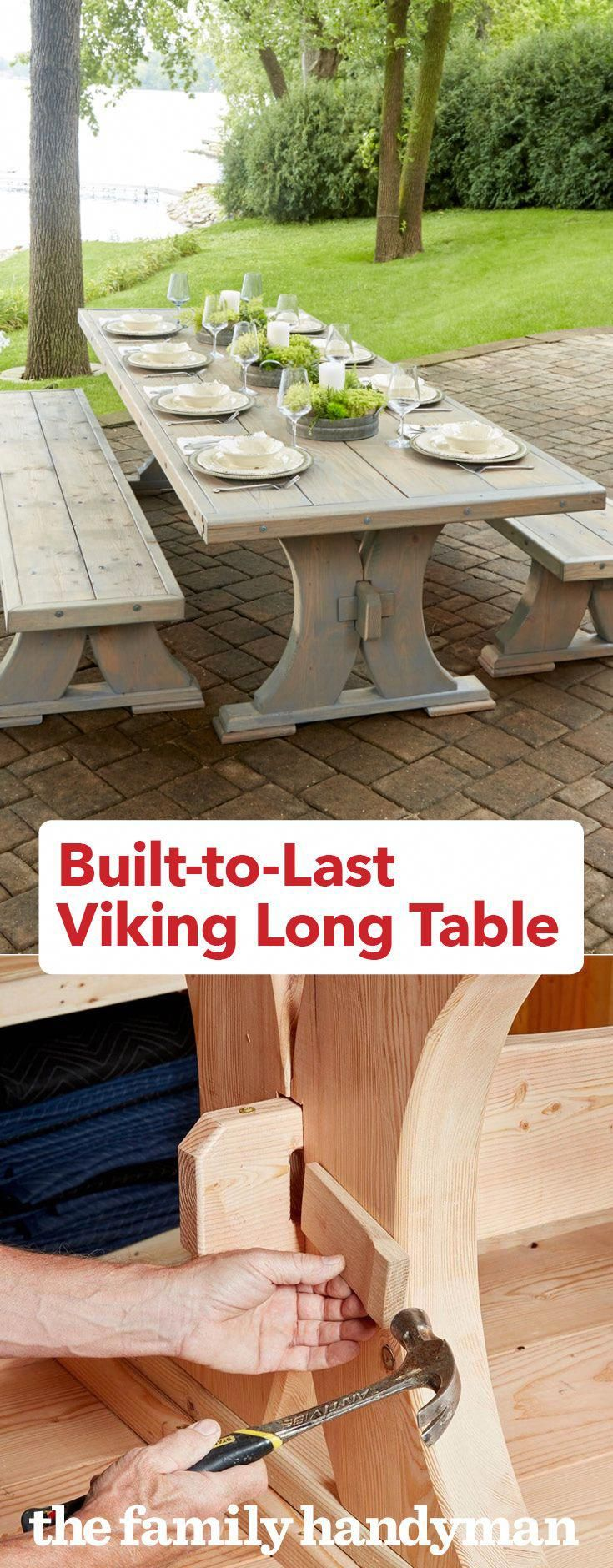 BuilttoLast Viking Long Table Woodworking projects