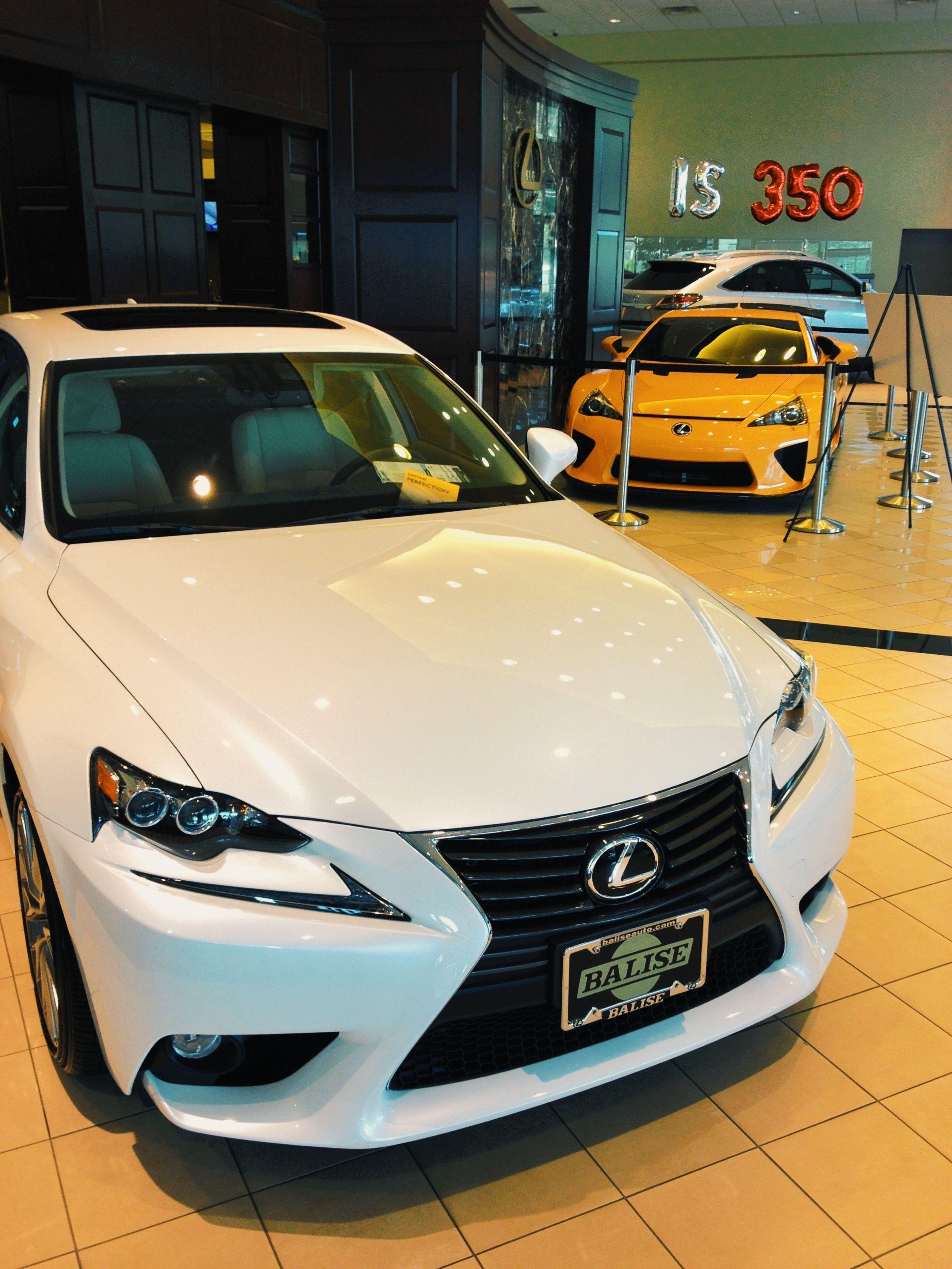 Is250 And Lfa In The Showroom Of Balise Lexus Lexus Pinterest