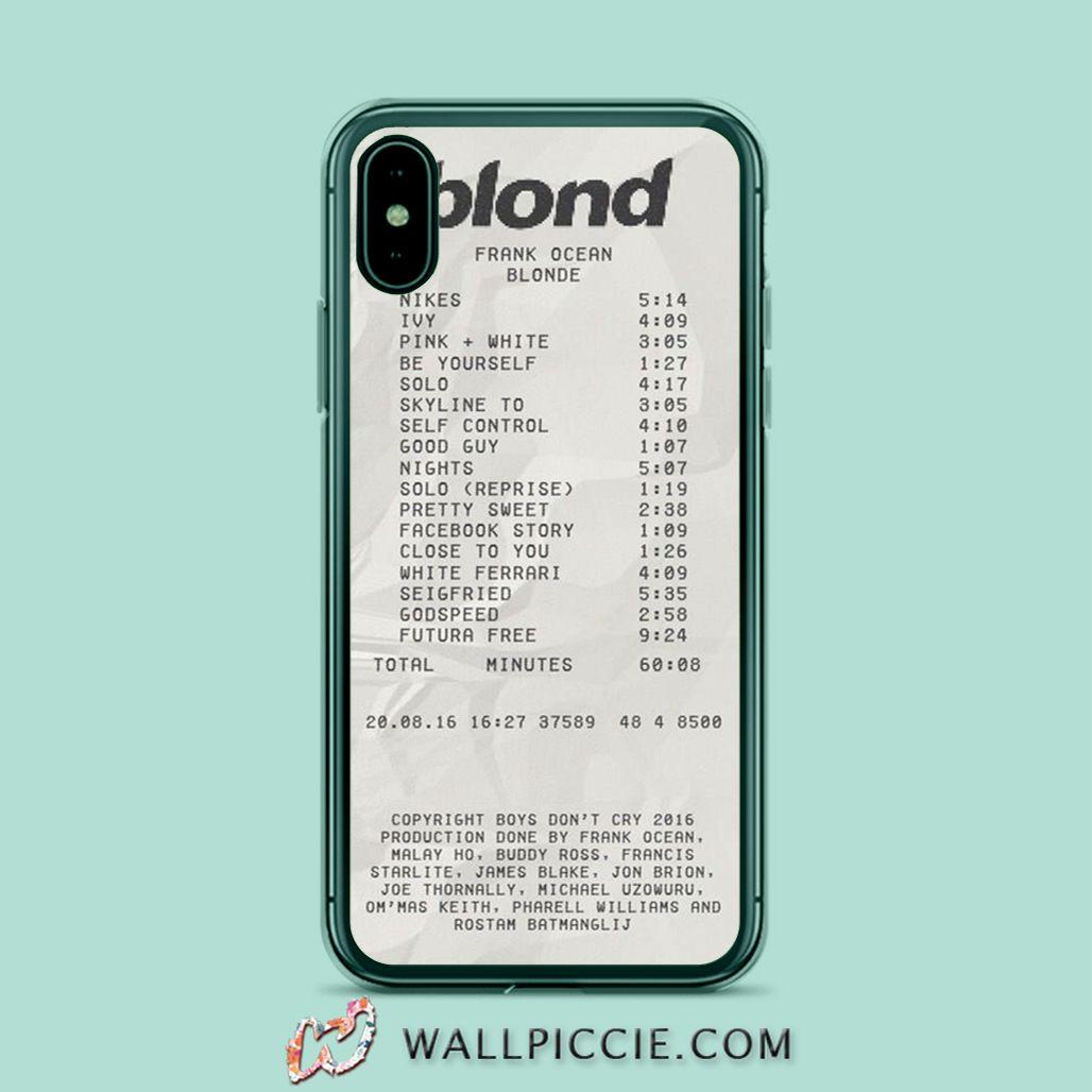 Frank Ocean Blonde Playlist iPhone Xr Case, iPhone XS