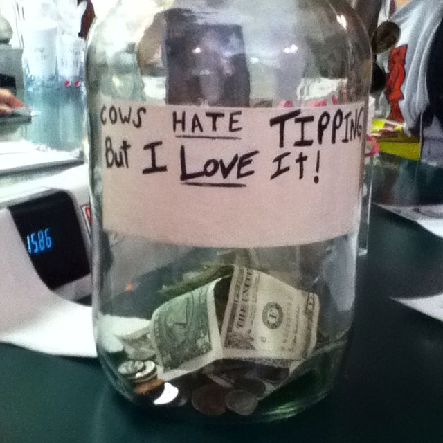 Pin By Eryn Fitzer On For Work Funny Tip Jars Tip Jars Donation Jar