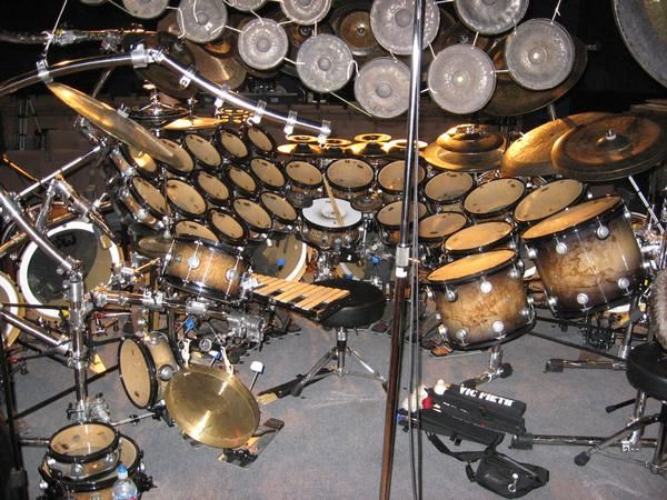 Bird Eye S View Of Neil Peart S Drumset Pics Drummers
