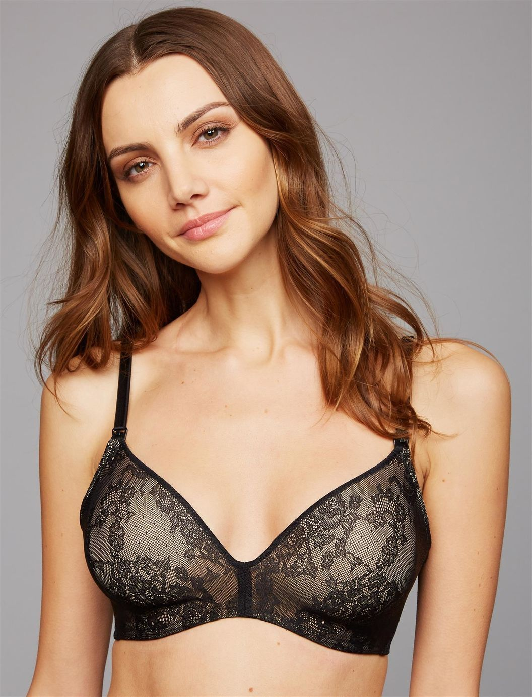 4d1a87bbe4dd7 Natori Private Luxuries Wireless Lace Nursing Bra | A Pea in the Pod  Maternity