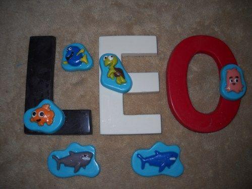 1 chocolate 3x4 letter nemo dory shark turtle fish lollipops lollipop   sapphirechocolates - Edibles on ArtFire