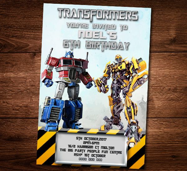 Dianaprintart I Will Do For You Birthday Invitation Any Theme For 10 On Fiverr Com Transformer Birthday Birthday Invitations Transformers Birthday Parties