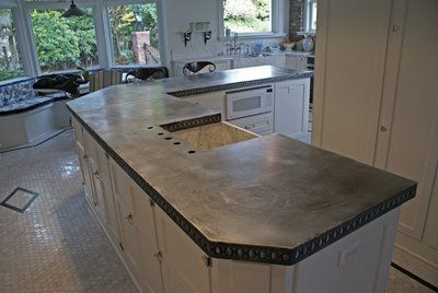 Zinc Counters Zinc Tables Zinc Countertops Small Kitchen Countertops Zinc Table