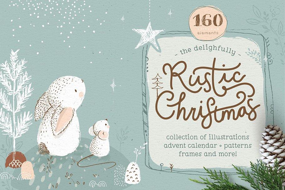 Rustic Christmas Collection ~ Illustrations ~ Creative Market #numerocalendrieraventaimprimer