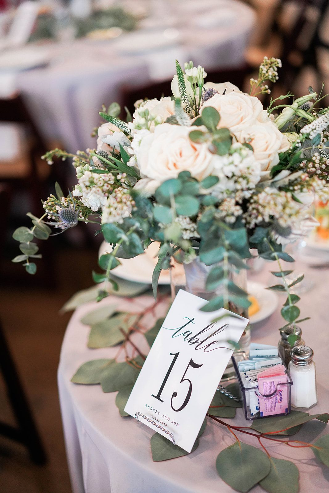 Elegant wedding decoration ideas  modern table numbers  elegant table number ideas  taupe  ivory