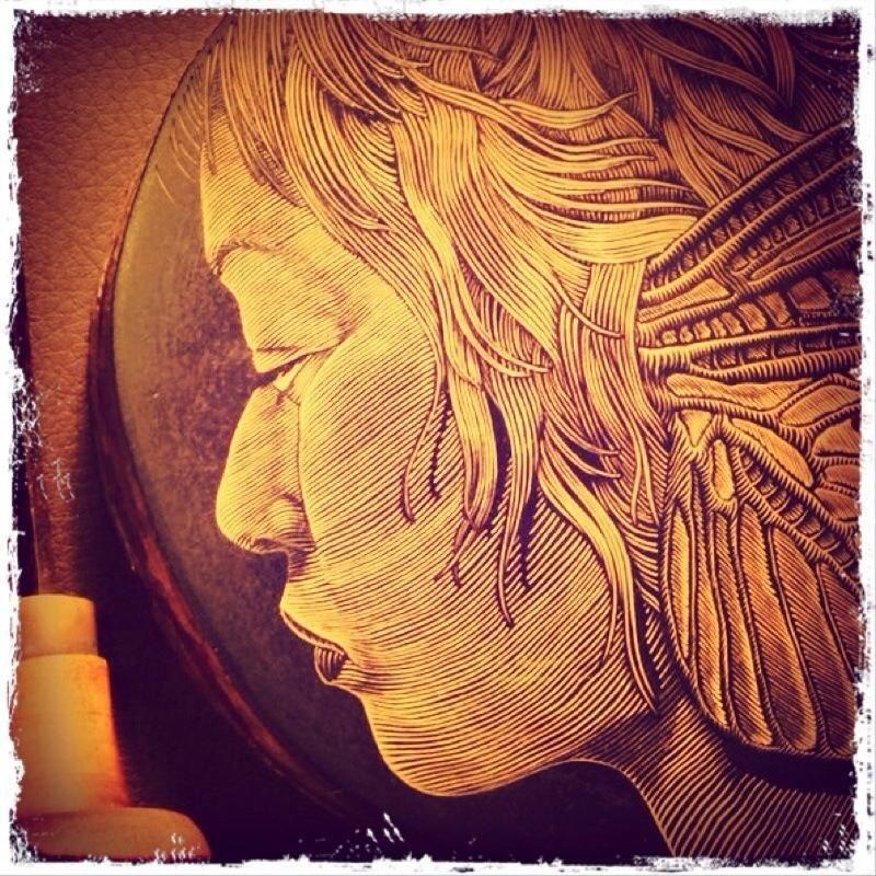 Wood-engraving work