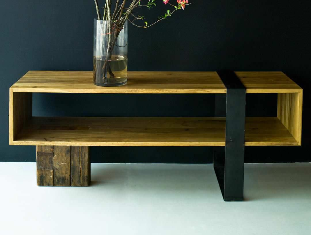 Post modern wood furniture - Like A Piece Of Modern Sculpture The Knightsbridge Console Plays On The Contrast Of Positive