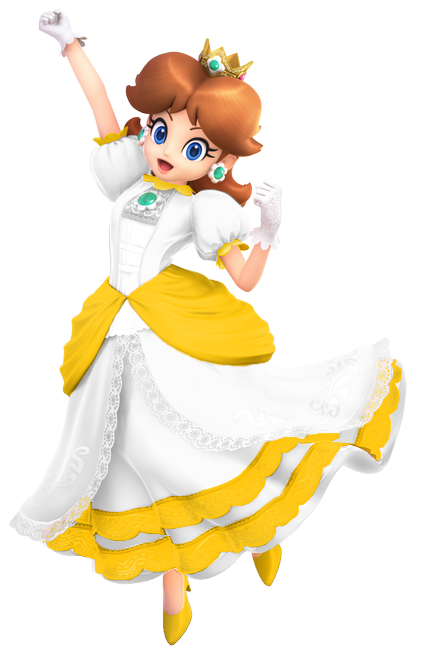 Here Is Our Daisy Fire Flower Palette Swap For Smash After The Recolor Of Friday These Colors Are De Super Mario Princess Princess Daisy Super Princess Peach