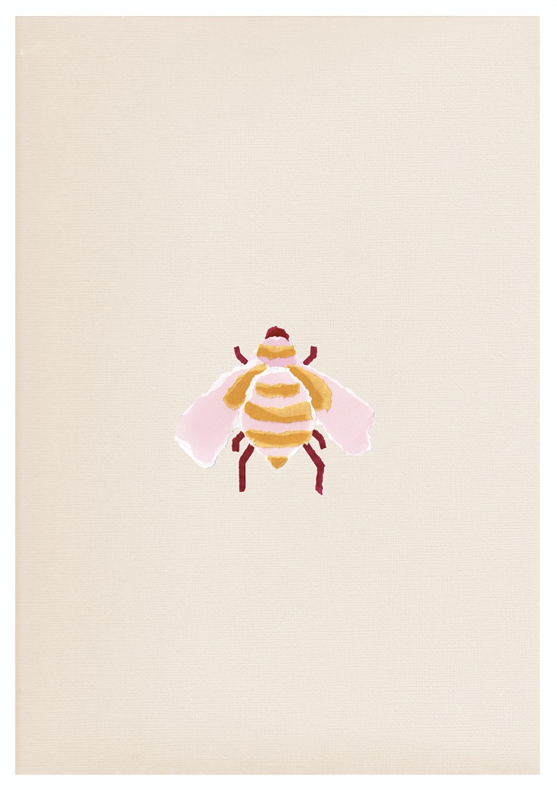 Without the queen, the whole hive is doomed. This print