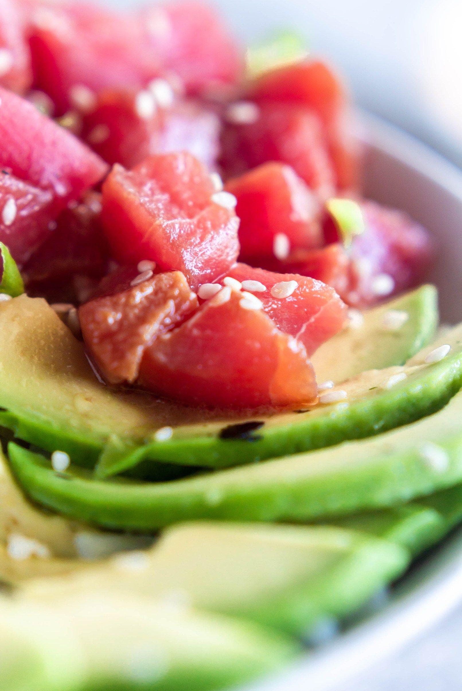 Ahi tuna poke bowls with spicy mayo recipe tuna poke