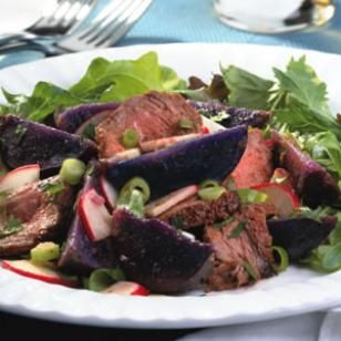 Steak & Purple-Potato Salad from EatingWell.com