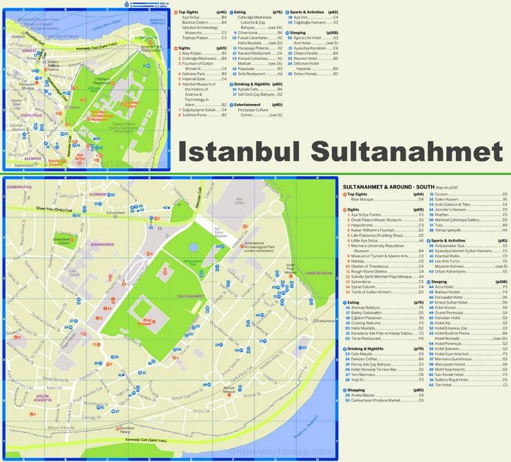 Sultanahmet tourist map Maps Pinterest Tourist map and City