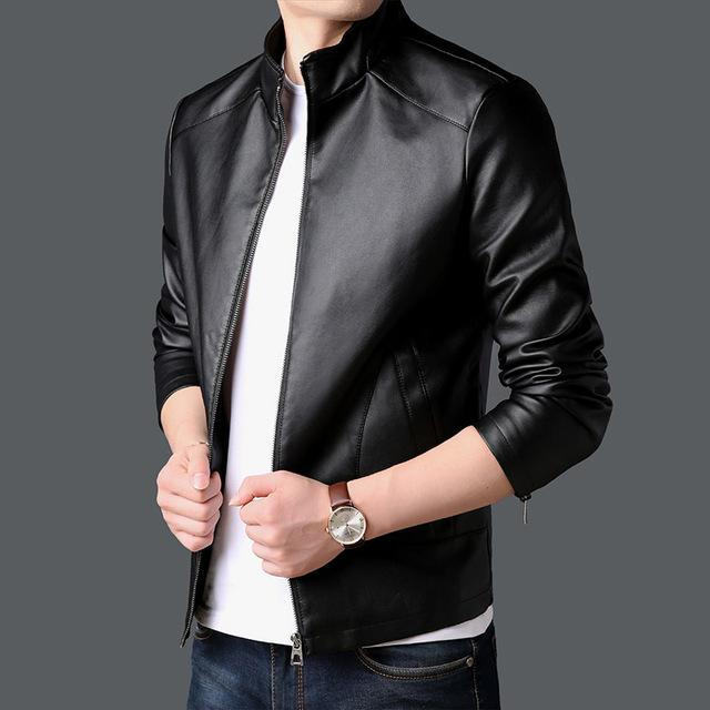 Faux Leather Motorcycle Korean Jacket in 2020 | Faux ...